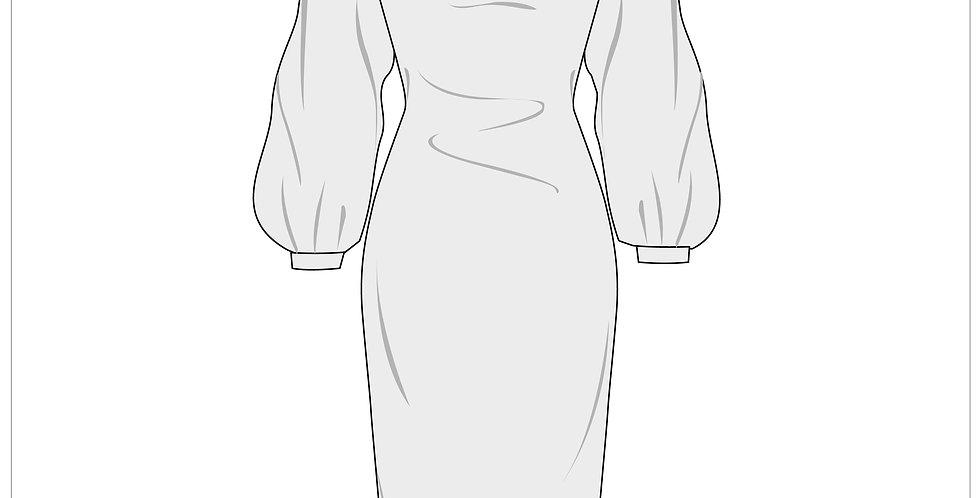 voluminous dress, adobe illustrator, fashion vector cads templates