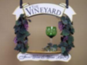 Wine Sign, shelf sign, hanging sign