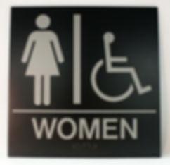 Women restroom ADA sign