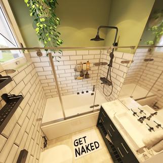 Banheiros pequenos podem ter banheira? Siiim