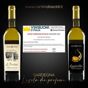 La guida Vini Buoni D' Italia 2021, premia il nostro Lagrimedda 2019 e Li Pastini 2019