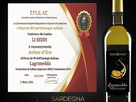 Anfora d' Oro  Lagrimedda 2019