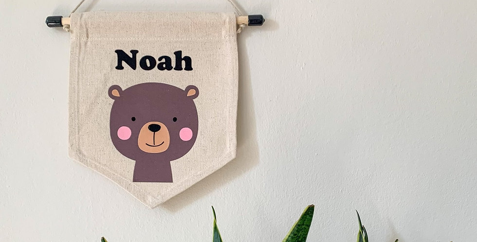 Personalised Bear Banner