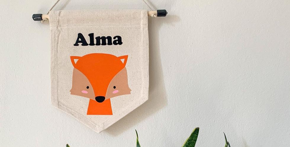 Personalised Fox Banner
