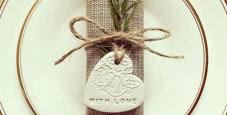 Personalised Clay Wedding Favours