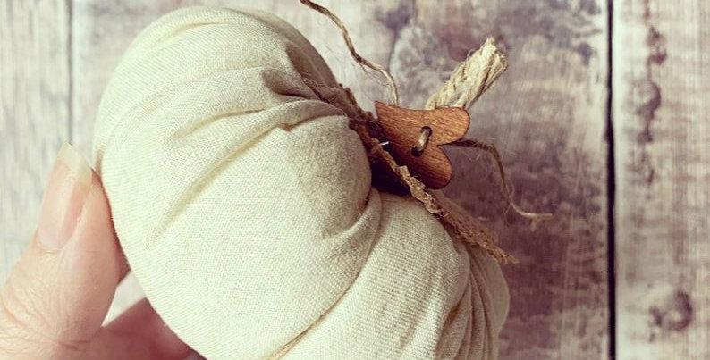 Small Fabric Pumpkin