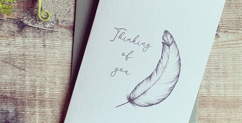 Feather Sympathy Card