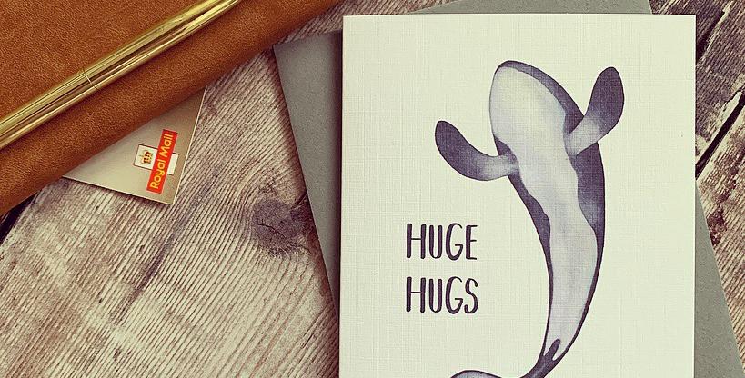 Huge Hugs Whale Card