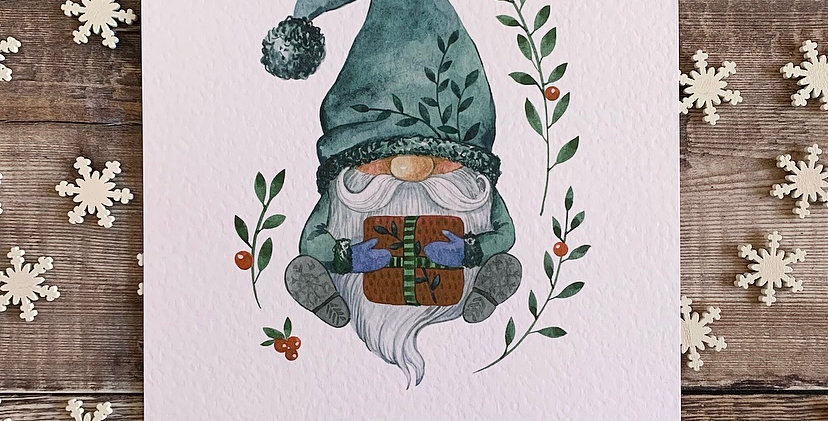 Christmas Gonk Print
