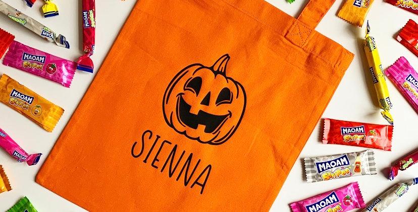 Personalised Halloween Cotton Bag