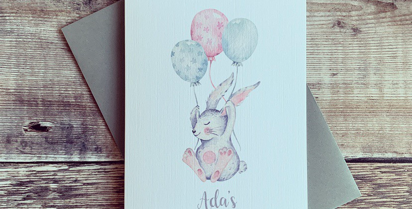 Personalised First Easter Card