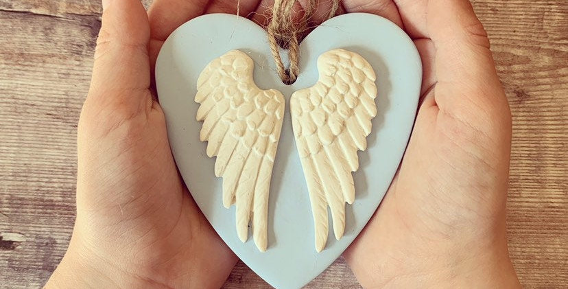 Memorial Angel Wing Heart