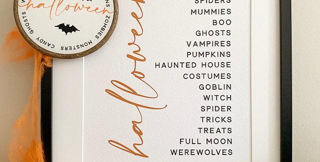 Halloween Word Print
