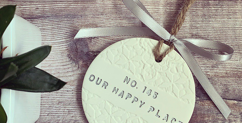 Personalised Our Happy Place Home Decoration
