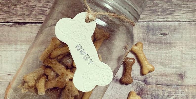 Dog Bone Treat Jar Tag
