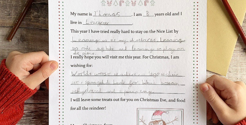 Letter To Father Christmas/Santa Claus