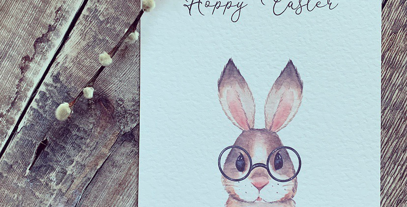 Hoppy Easter Brown Bunny Print