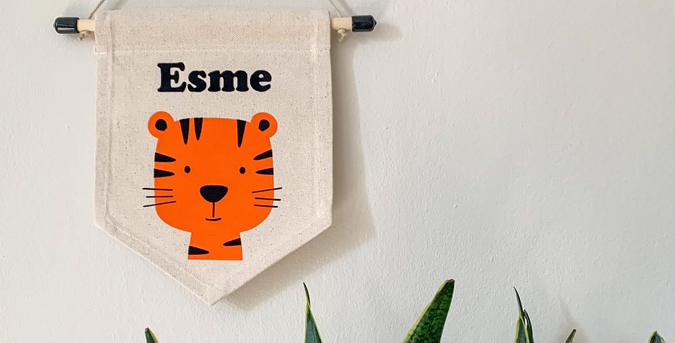 Personalised Tiger Banner