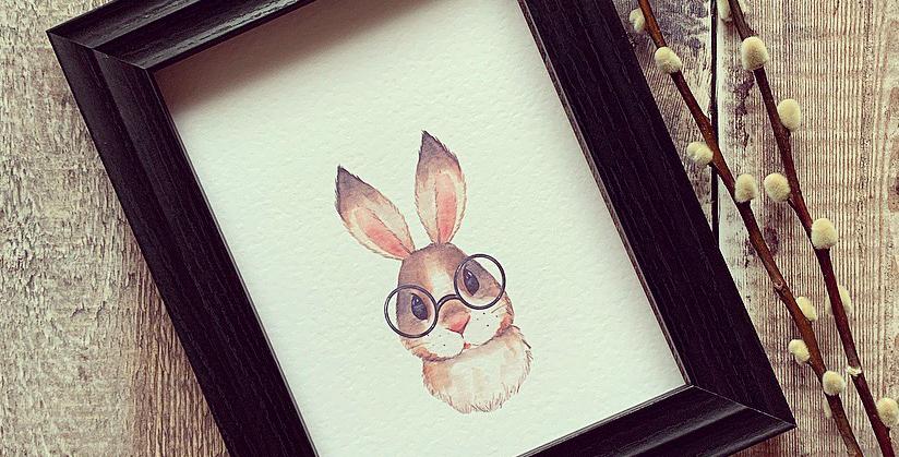 Brown Bunny Print