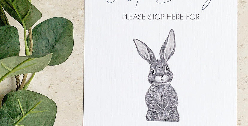 Personalised Easter Bunny Please Stop Here Print