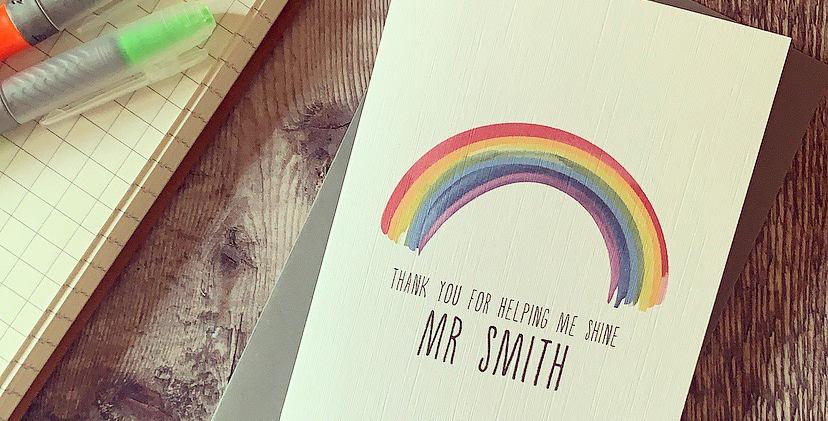 Personalised Thank You For Helping Me Shine Card