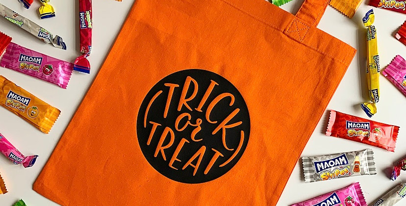 Trick or Treat Cotton Bag
