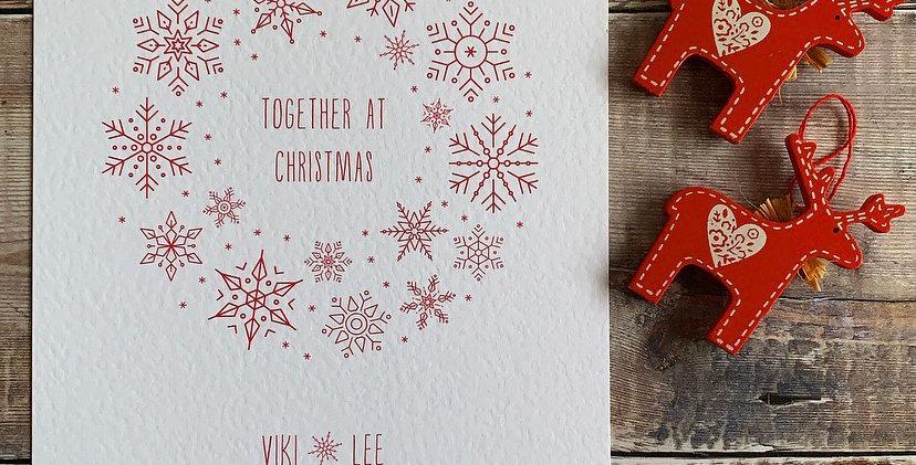 Personalised Snowflake Wreath Print