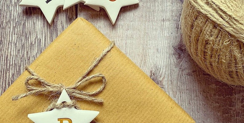 Star Initial Clay Gift Tags