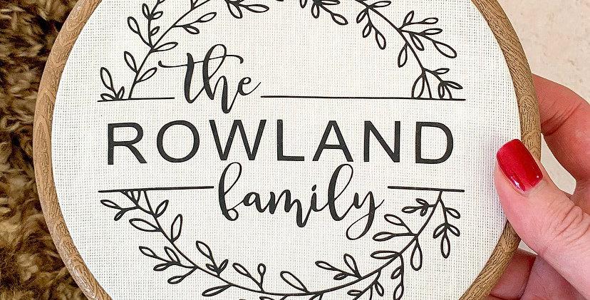Personalised Family Wreath Hoop