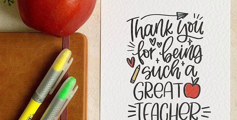 Great Teacher A5 Print