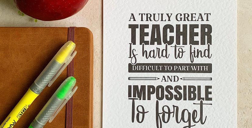 A Truly Great Teacher A5 Print