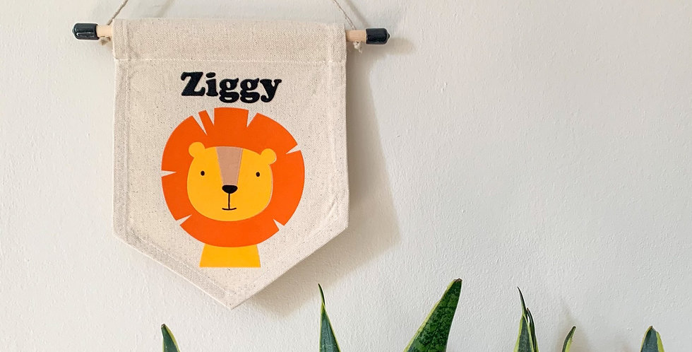 Personalised Lion Banner