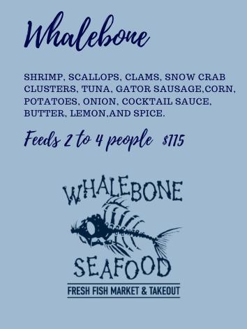 Whalebone Steam Dinner