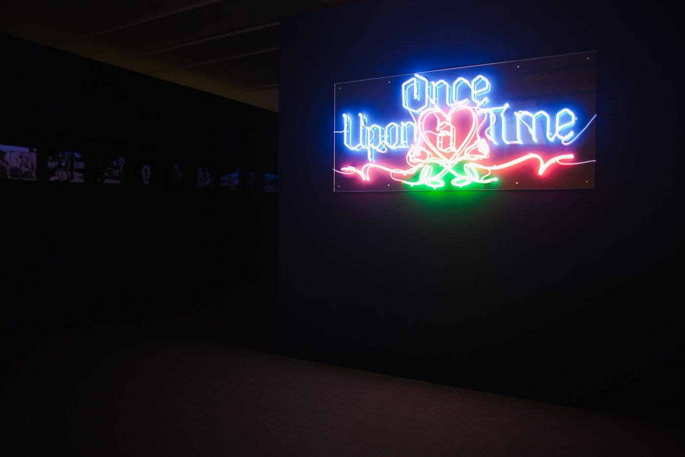 Once Upon A Time 2018 Neon lettering 83 × 180 cm