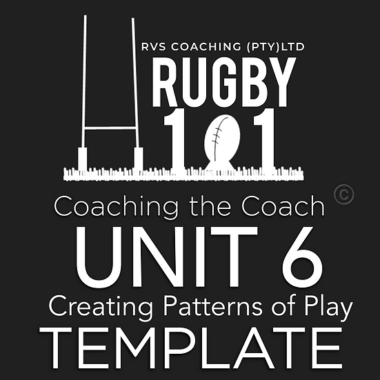 Coaching the Coach - UNIT 6 Creating Patterns of PlayTEMPLATE