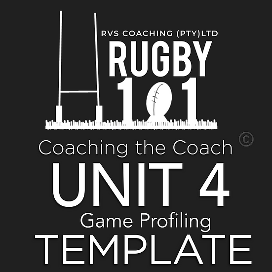 Coaching the Coach - UNIT 4 Game Profile TEMPLATE