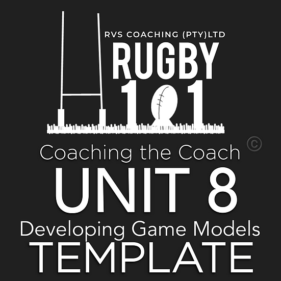 Coaching the Coach - UNIT 8 Developing Game Models TEMPLATE