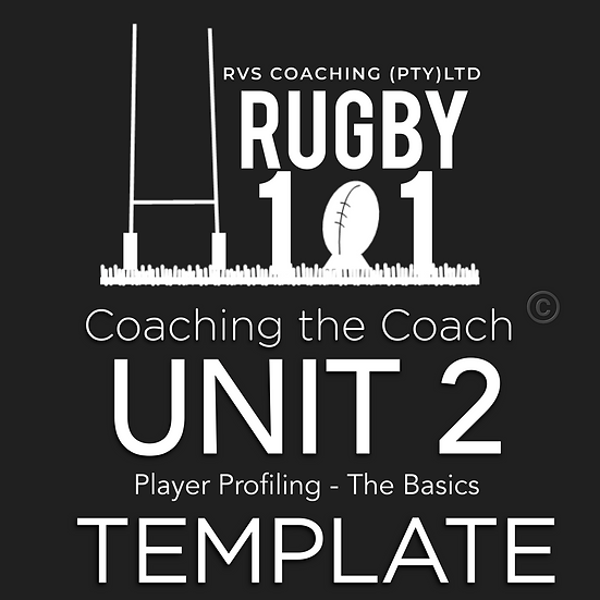 Coaching the Coach - UNIT 2 Player Profile TEMPLATE
