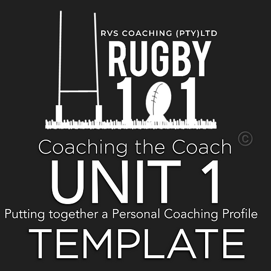 Coaching the Coach - UNIT 1 TEMPLATES