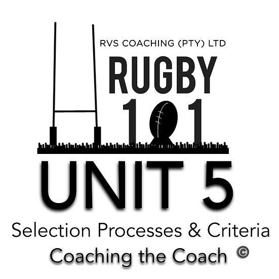 Coaching the Coach - UNIT 5
