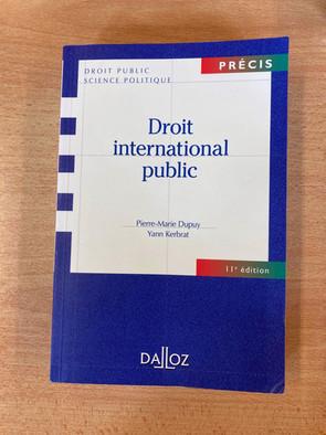 Droit international public (Précis Dalloz) — 10 €