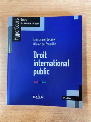 Droit international public (Hypercours Dalloz) — 11 €