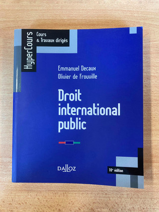 Droit international public (Hypercours Dalloz) — 11 €