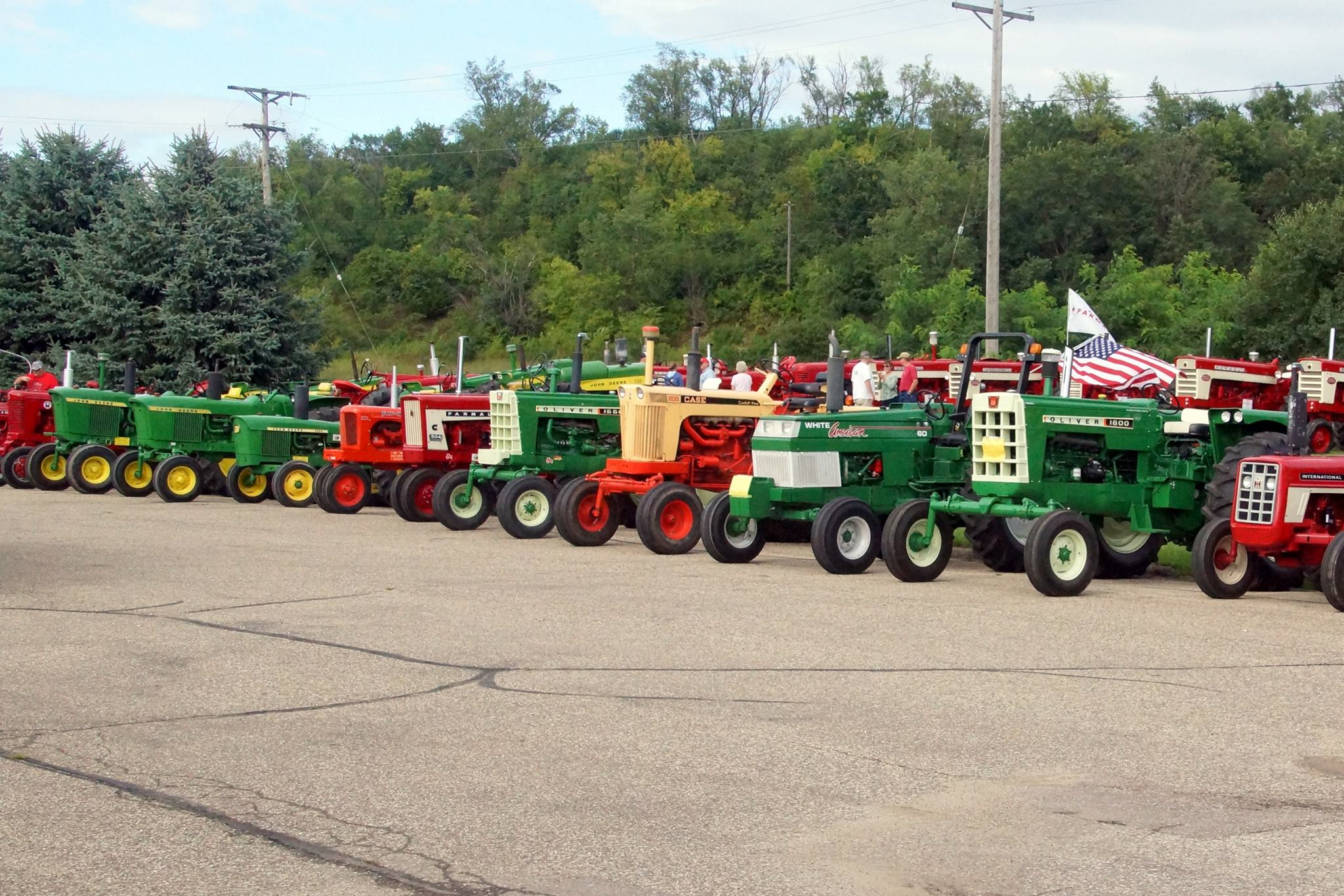 tractor night in august