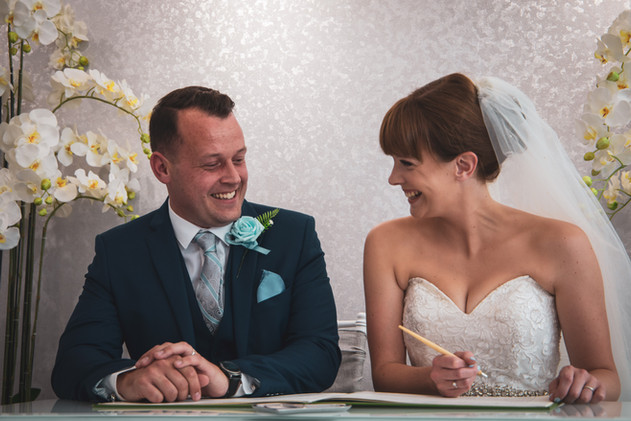 Jessica And Chris - Signing The Marriage Certificate