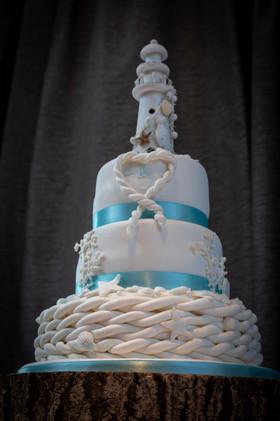 Jessica And Chris - Wedding Cake