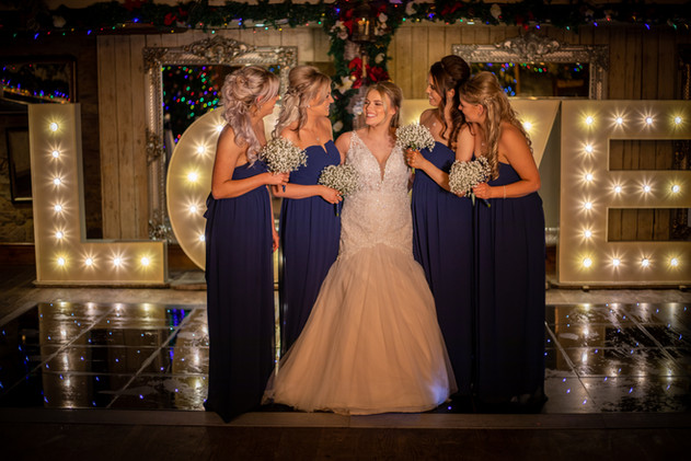 Damien And Gemma - Gemma With Bridesmaids