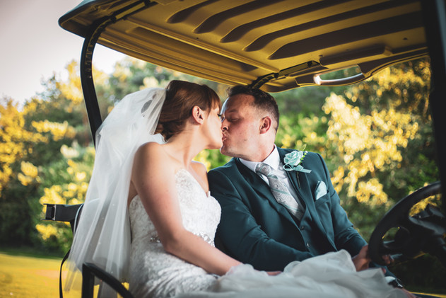 Jessica And Chris - Out In The Golf Buggy