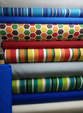 Telas de colores vibrantes
