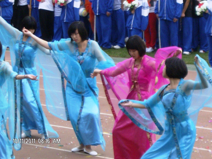 Sports day in school in China north of Beijing